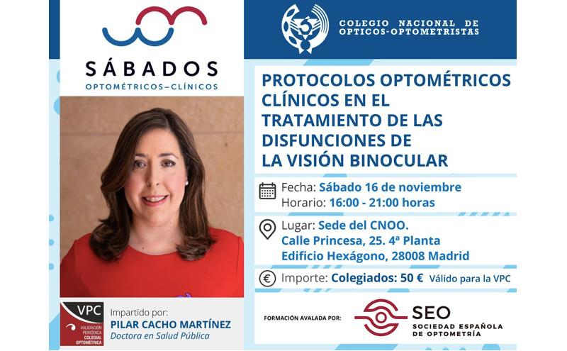 """Curso de formación CNOO sobre """"Protocolos optométricos clínicos en el tratamiento de las disfunciones de la visión binocular"""""""