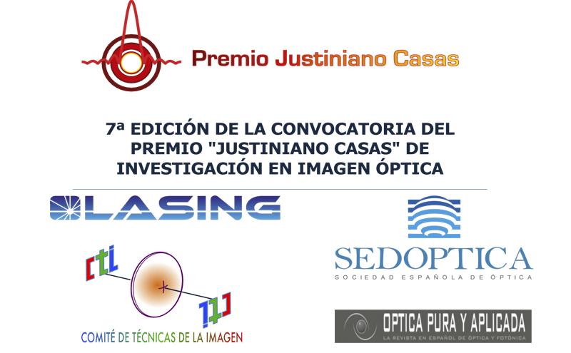 Convocada la 7ª edición del Premio Justiniano Casas de Investigación en Imagen Óptica