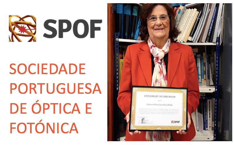 María Luisa Calvo nombrada miembro honorario de la SPOF
