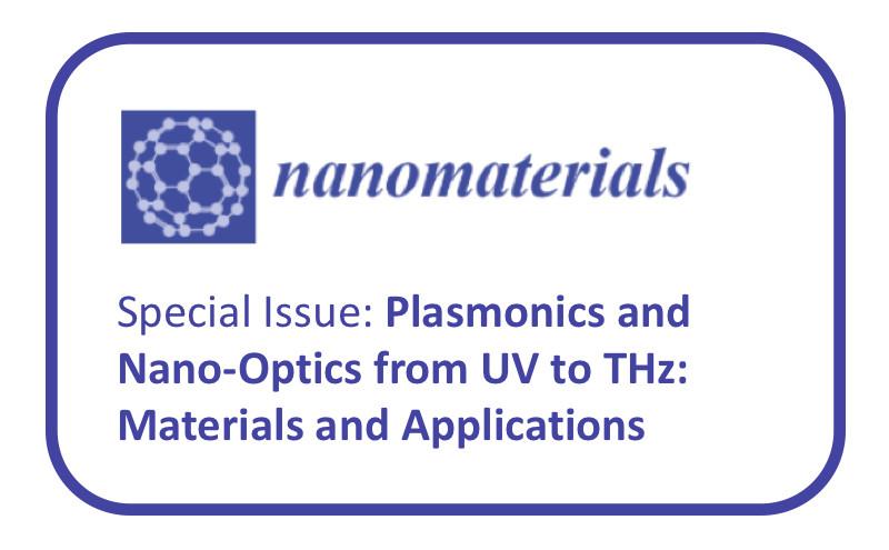 Número especial PLASMONICS & NANO-OPTICS FROM UV TO THz