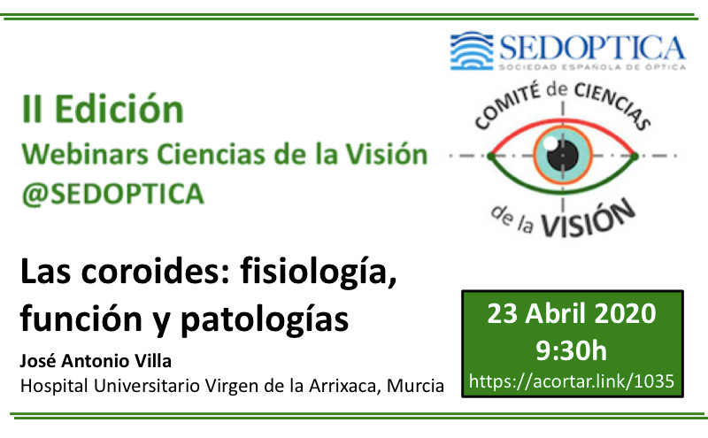 Webinar Ciencias de la Visión: LAS COROIDES - FISIOLOGÍA, FUNCIÓN Y PATOLOGÍAS