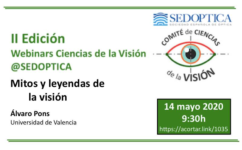 Webinar Ciencias de la Visión: MITOS Y LEYENDAS DE LA VISIÓN