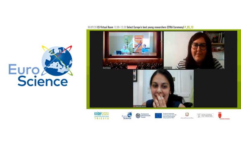 María Viñas Premio EuroScience EYRA 2020