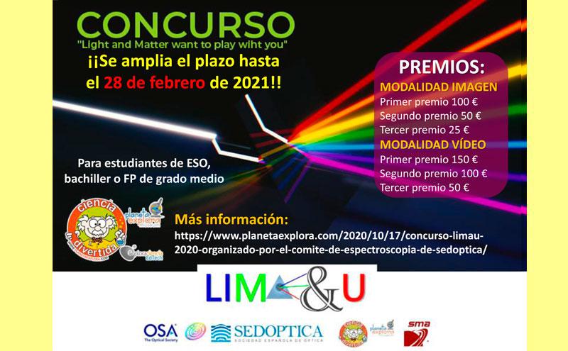 Concurso LIMA&U 2020 organizado por el Comité de Espectroscopía