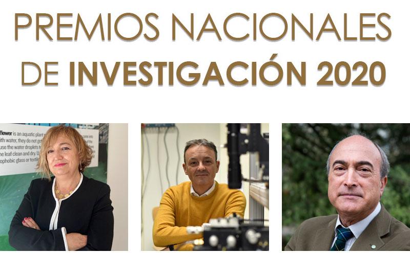 Laura Lechuga, José Capmany y Nazario Martín, Premios Nacionales de Investigación 2020