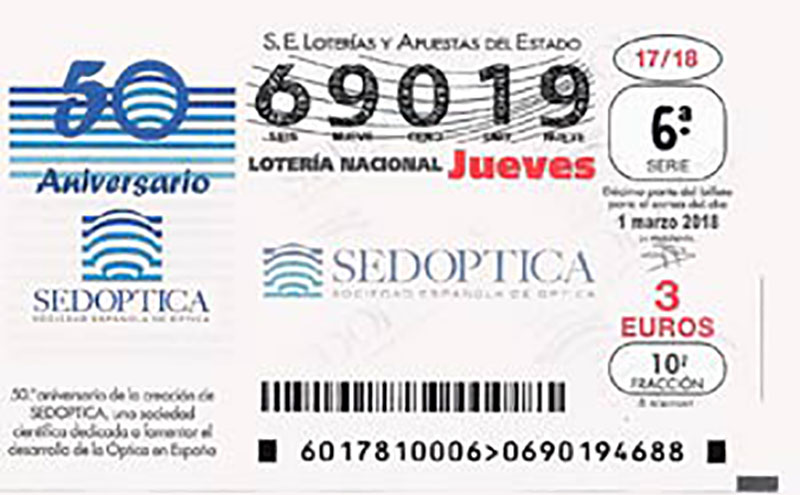 Loterías y Apuestas del Estado – SELAE con el 50 aniversario de SEDOPTICA
