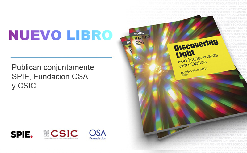 Publicación del libro Discovering Light: Fun Experiments with Optics